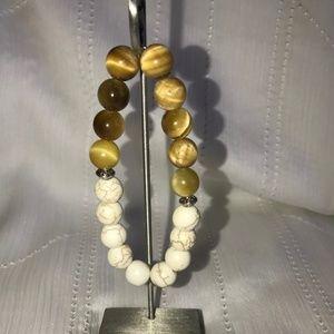 Handmade Tigers Eye/Howlite Gemstone Jewelry